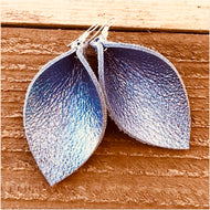 Lilac Leather Earrings