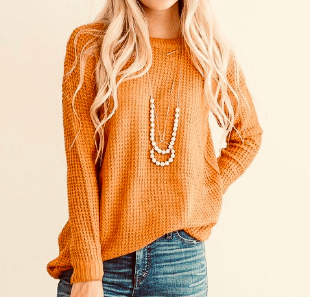 Mustard Thermal sweater top