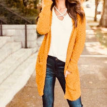 Load image into Gallery viewer, Mustard Cardigan Sweater