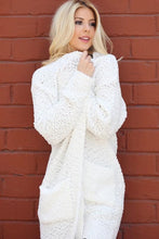 Load image into Gallery viewer, Ivory white Popcorn cardigan