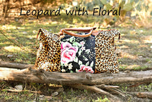 Load image into Gallery viewer, Leopard and Floral Weekender
