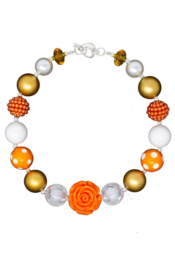 Kids Orange Rose necklace