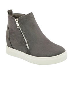 Hidden wedge sneakers (Grey)