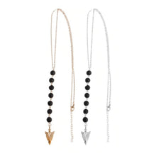 Load image into Gallery viewer, Lava Bead and Arrow Head Diffuser Necklace