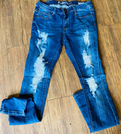 Machine Distressed jeans