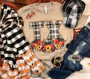 Plaid Texas Tee