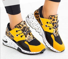 Load image into Gallery viewer, Yellow & Leopard Sneakers