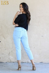 Light wash Crop pants