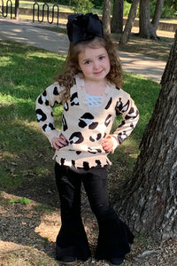 Kids Frayed leopard sweater