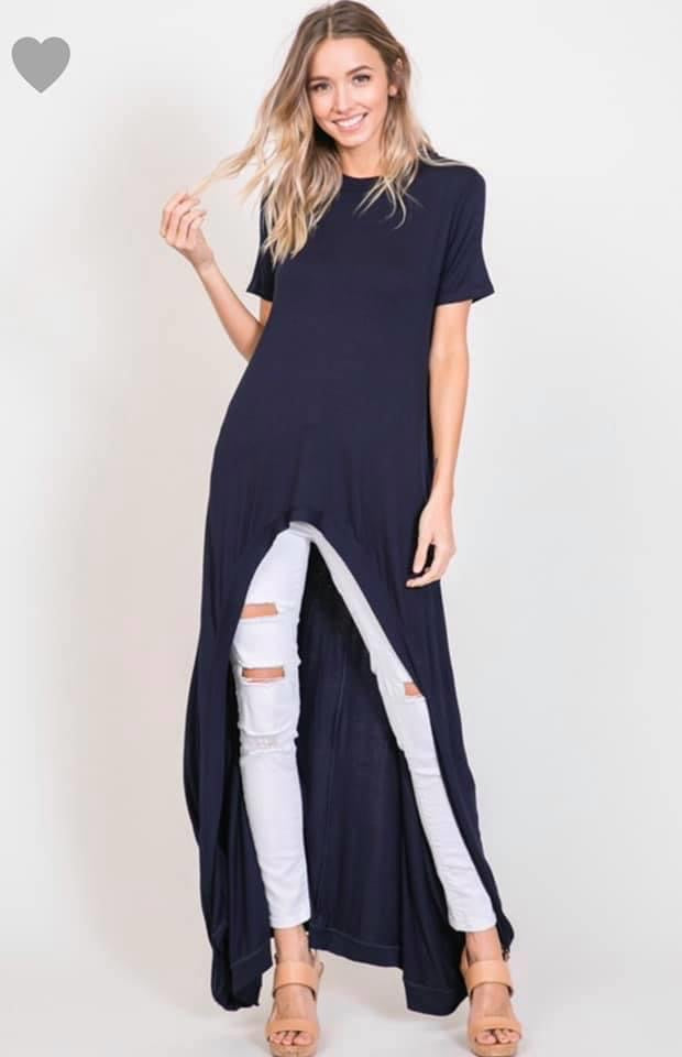Hi-Low Maxi top