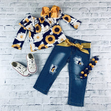Load image into Gallery viewer, Sunflower 🌻 denim set