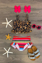 Load image into Gallery viewer, Serape and leopard bath suit (kids)