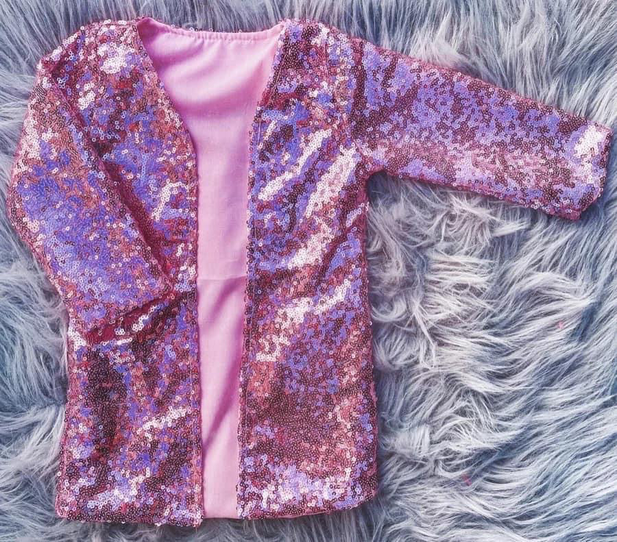 Pretty in Pink sequins cardigan