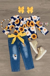 Sunflower 🌻 denim set