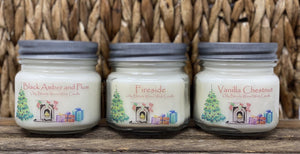 WOOD WICK Christmas Soy Wax Candles