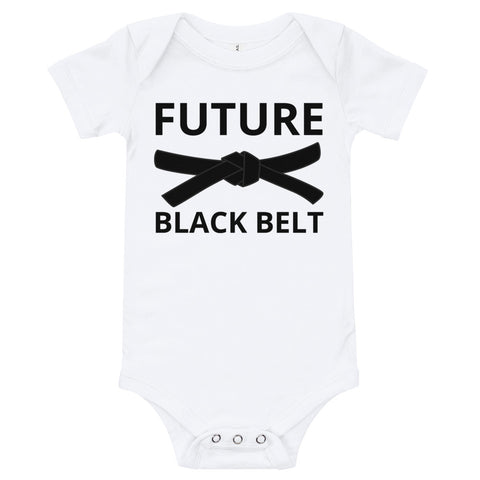 Future Black Belt Baby Onesie