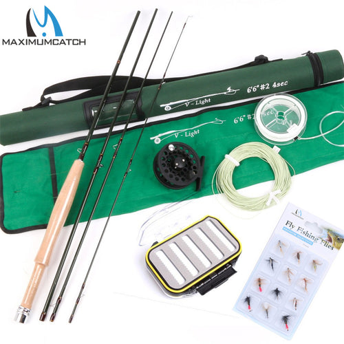 High Quality Fly Fishing set include Line, Reel and Rod 6.6FT Mid-Fast 2# Super Light Fly Fishing Rod Combo