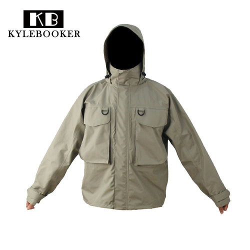 Kylebooker Breathable Fly Fishing Wading Jacket Waterproof Fishing Wader Jacket Clothes  Fishing Outerwear