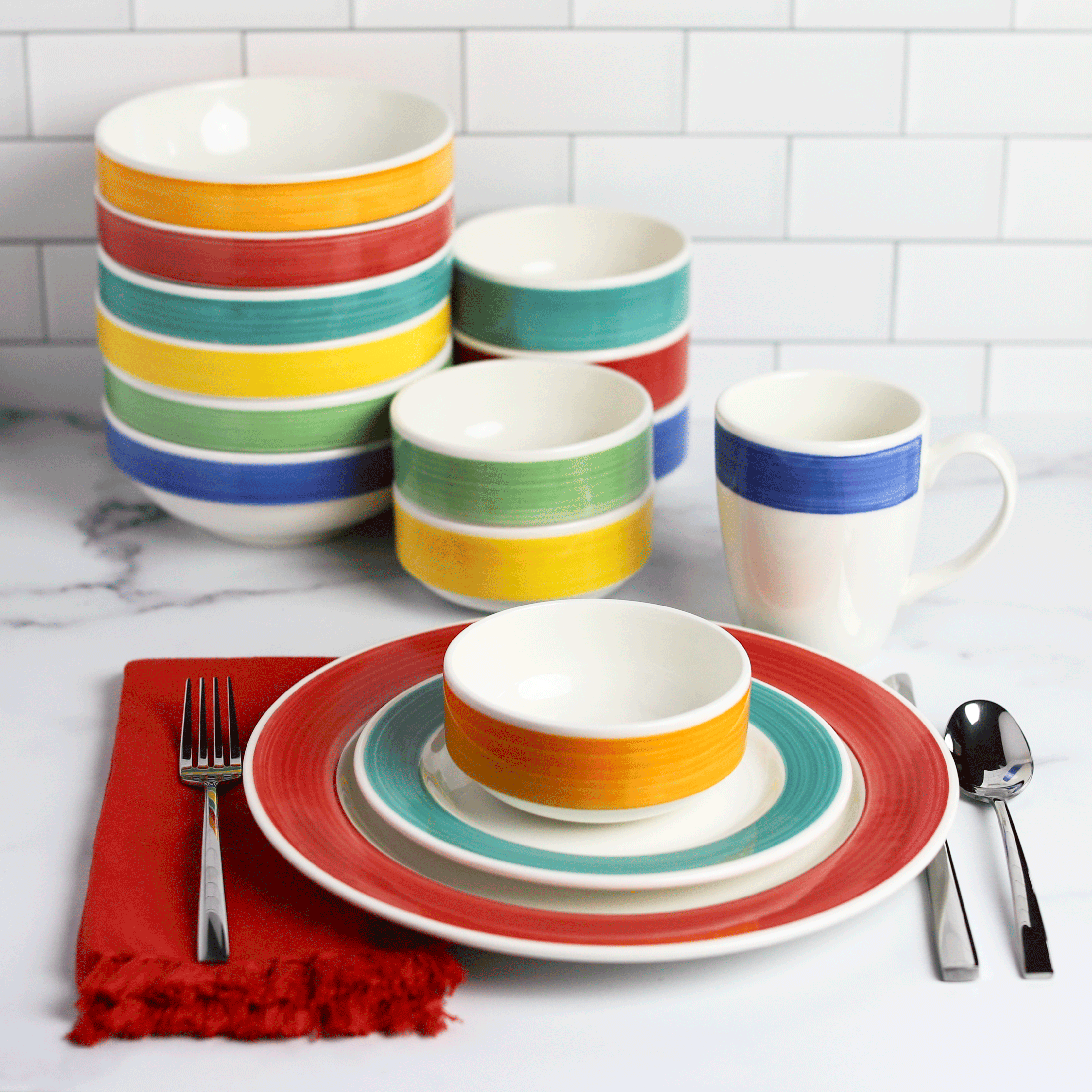 The newest collection that beautifully accents your existing Fiesta collection, Brush Tones by The Fiesta Tableware Company.