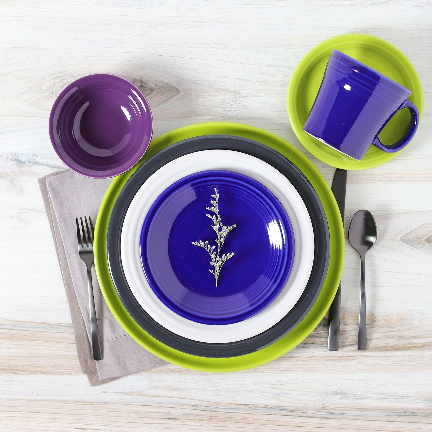 The newest color of dinnerware proudly made in the USA - meet Twilight by The Fiesta Tableware Company.
