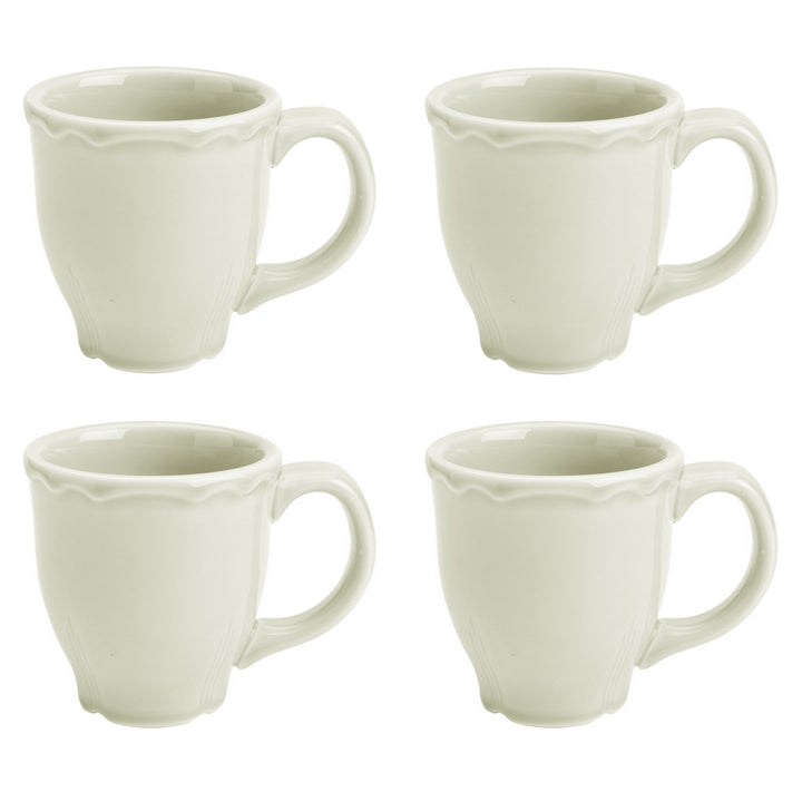 Set of 4 Terrace Mugs Natural - USA Dinnerware Direct, Set of 4 proudly made in the USA by the Fiesta Tableware Company