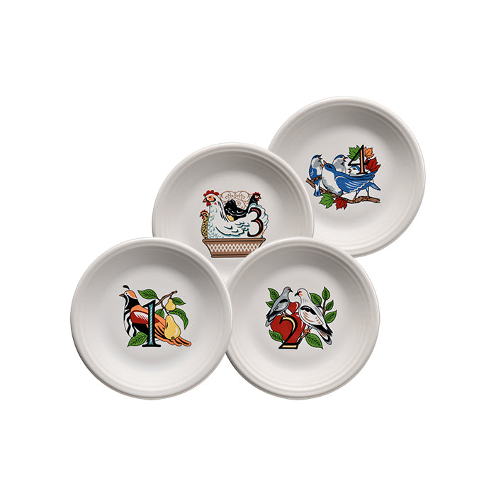 12 Days Of Christmas Salads (Set of 4, Series 1) - USA Dinnerware Direct, Holiday proudly made in the USA. Deep discounts of up to 70% off all Fiesta, tabletop and kitchen ware.