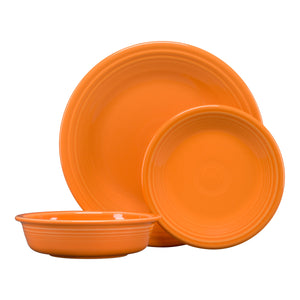 Fiesta 3 Pc Place Setting - USA Dinnerware Direct, Set proudly made in the USA. Deep discounts of up to 70% off all Fiesta, tabletop and kitchen ware.