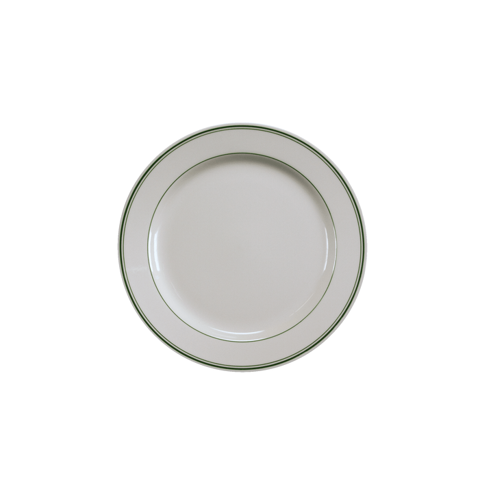 Green Band Salad Plate - USA Dinnerware Direct, Plate proudly made in the USA. Deep discounts of up to 70% off all Fiesta, tabletop and kitchen ware.