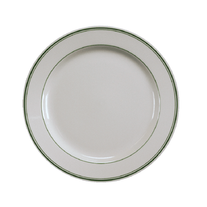 Green Band Dinner Plate - USA Dinnerware Direct, Plate proudly made in the USA by the Fiesta Tableware Company