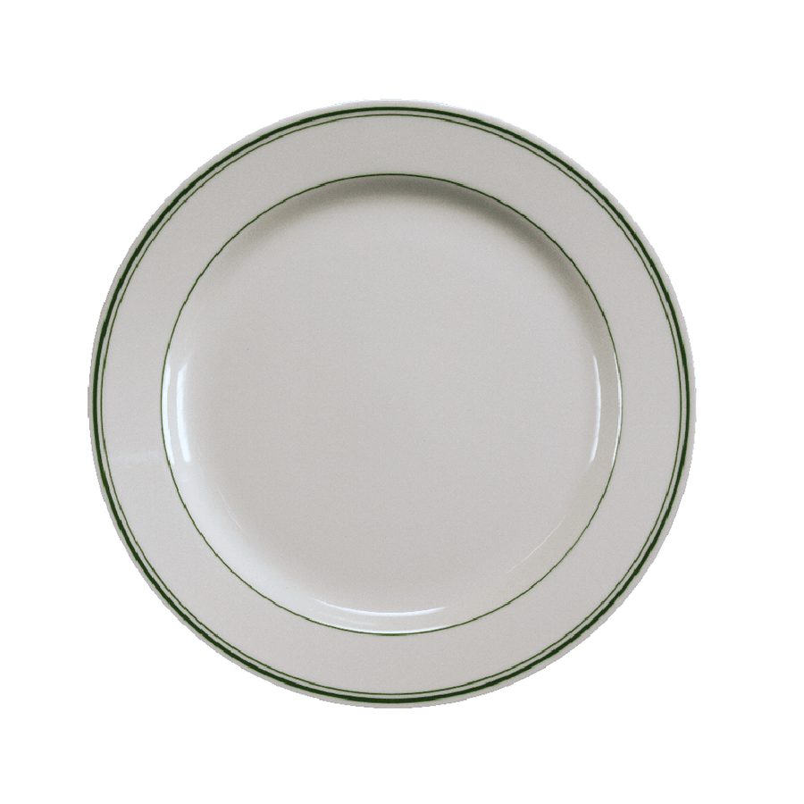 Green Band Dinner Plate - USA Dinnerware Direct, Plate proudly made in the USA. Deep discounts of up to 70% off all Fiesta, tabletop and kitchen ware.