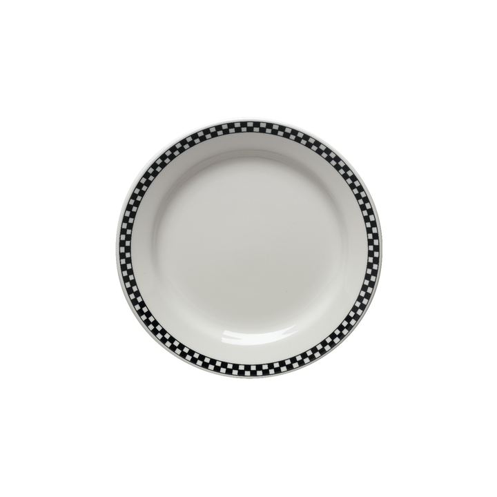 Checkers Salad Plate - USA Dinnerware Direct, Plate proudly made in the USA by the Fiesta Tableware Company