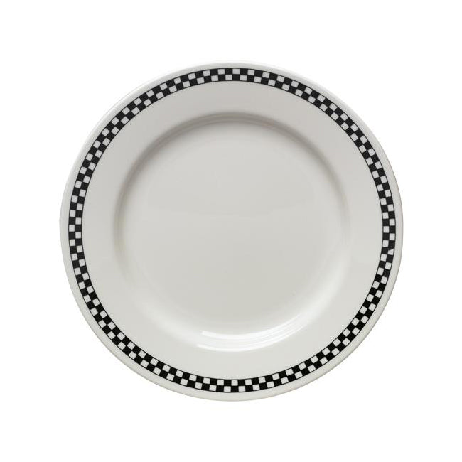 Checkers Dinner Plate - USA Dinnerware Direct, Plate proudly made in the USA by the Fiesta Tableware Company