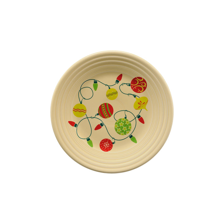 Lights And Balls Luncheon Plate - USA Dinnerware Direct, Holiday proudly made in the USA. Deep discounts of up to 70% off all Fiesta, tabletop and kitchen ware.