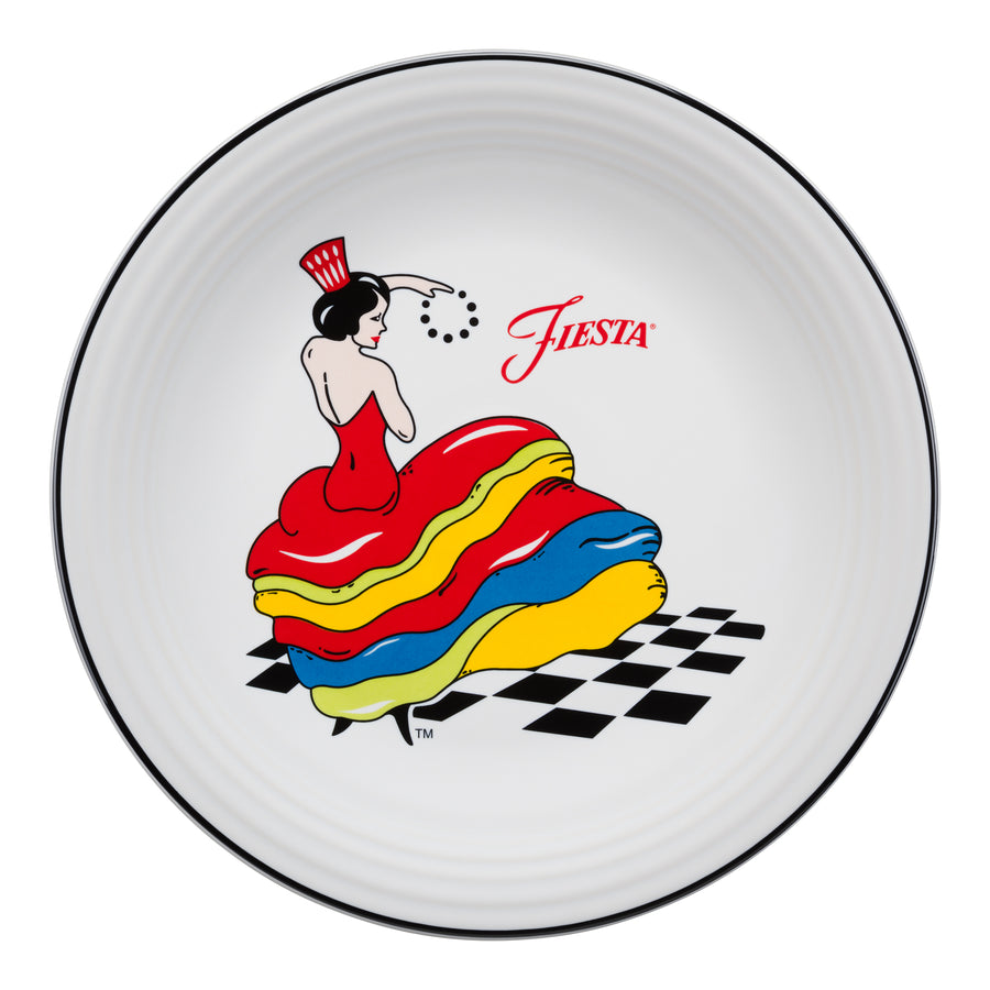Fiesta Dancing Lady Chop Plate - USA Dinnerware Direct, Plate proudly made in the USA. Deep discounts of up to 70% off all Fiesta, tabletop and kitchen ware.