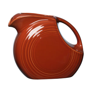 Fiesta Large Disk Pitcher - USA Dinnerware Direct, Disk Pitcher proudly made in the USA. Deep discounts of up to 70% off all Fiesta, tabletop and kitchen ware.