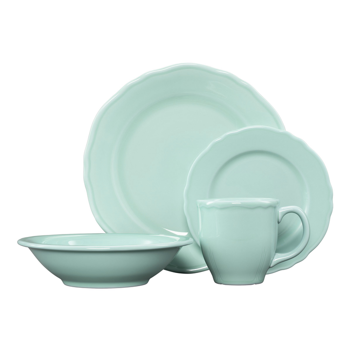4 Pc Terrace Place Setting Aqua - USA Dinnerware Direct, Place Setting proudly made in the USA by the Fiesta Tableware Company