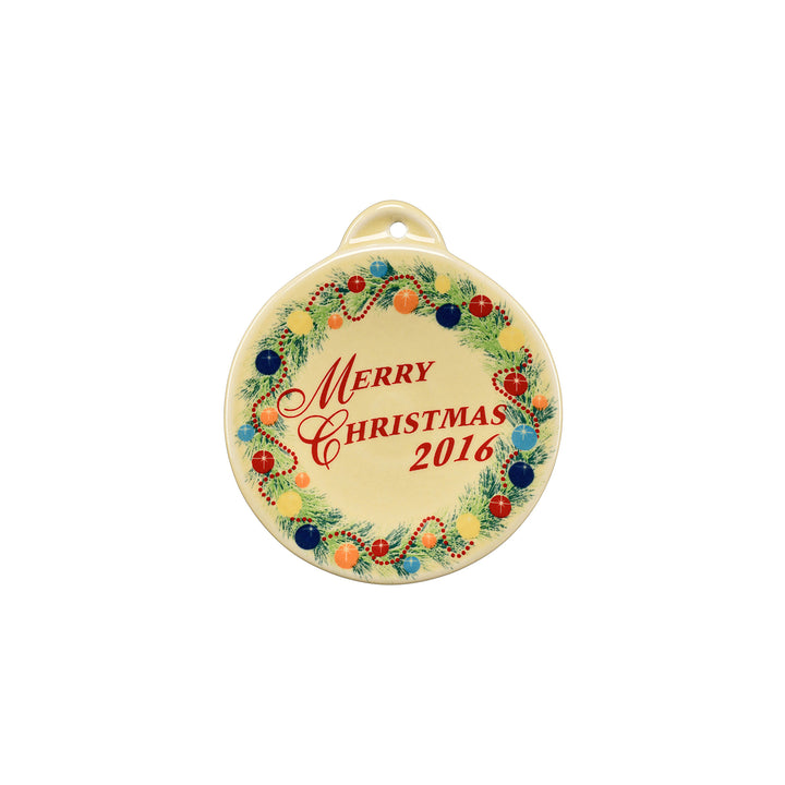 2016 Christmas Ornament - USA Dinnerware Direct, Holiday proudly made in the USA. Deep discounts of up to 70% off all Fiesta, tabletop and kitchen ware.