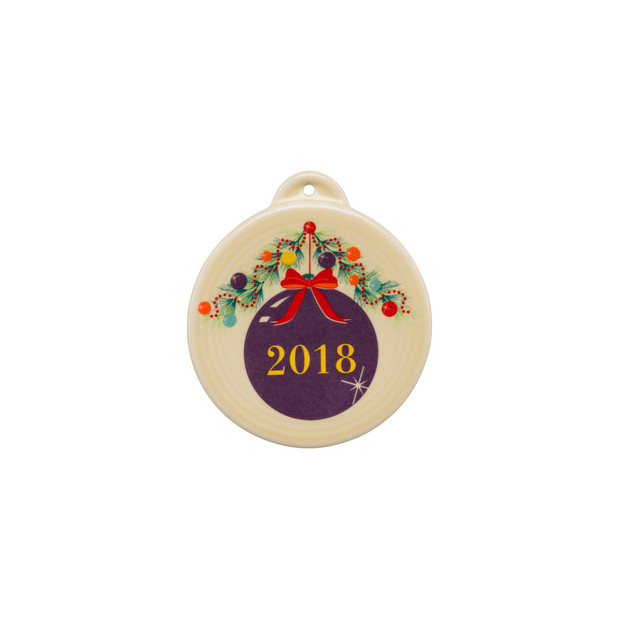 2018 Christmas Tree Ornament - USA Dinnerware Direct, Holiday proudly made in the USA by the Fiesta Tableware Company