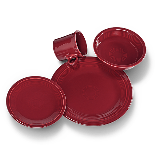 Fiesta 4 pc Place Setting - USA Dinnerware Direct, Set proudly made in the USA. Deep discounts of up to 70% off all Fiesta, tabletop and kitchen ware.