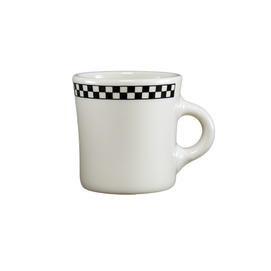 Checkers Jumbo Mug - USA Dinnerware Direct, Drinkware proudly made in the USA. Deep discounts of up to 70% off all Fiesta, tabletop and kitchen ware.