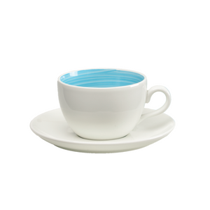 Dolce Peacock Cup & Saucer - USA Dinnerware Direct, Drinkware proudly made in the USA. Deep discounts of up to 70% off all Fiesta, tabletop and kitchen ware.