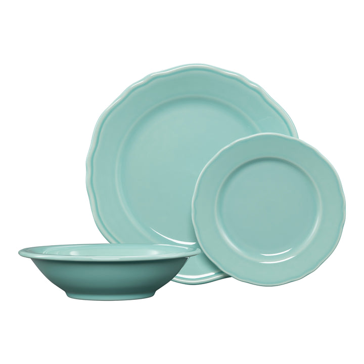 3 Pc Terrace Place Setting Aqua - USA Dinnerware Direct, Place Setting proudly made in the USA by the Fiesta Tableware Company
