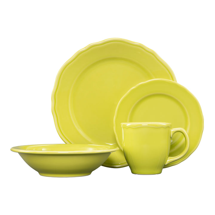 4 Pc Terrace Place Setting Citrus - USA Dinnerware Direct, Place Setting proudly made in the USA by the Fiesta Tableware Company
