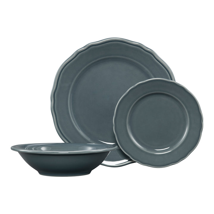 3 Pc Terrace Place Setting Gray - USA Dinnerware Direct, Place Setting proudly made in the USA by the Fiesta Tableware Company