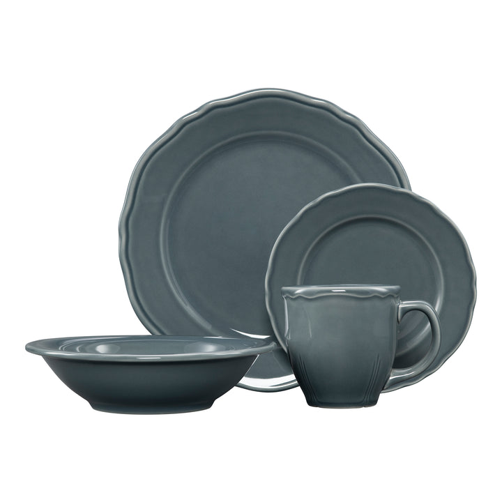 4 Pc Terrace Place Setting Gray - USA Dinnerware Direct, Place Setting proudly made in the USA by the Fiesta Tableware Company