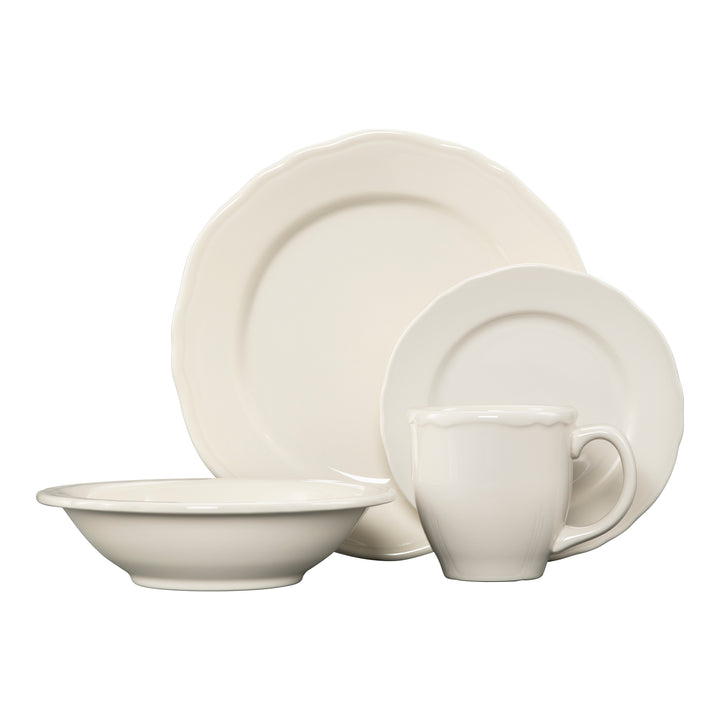4 Pc Terrace Place Setting Natural - USA Dinnerware Direct, Place Setting proudly made in the USA by the Fiesta Tableware Company