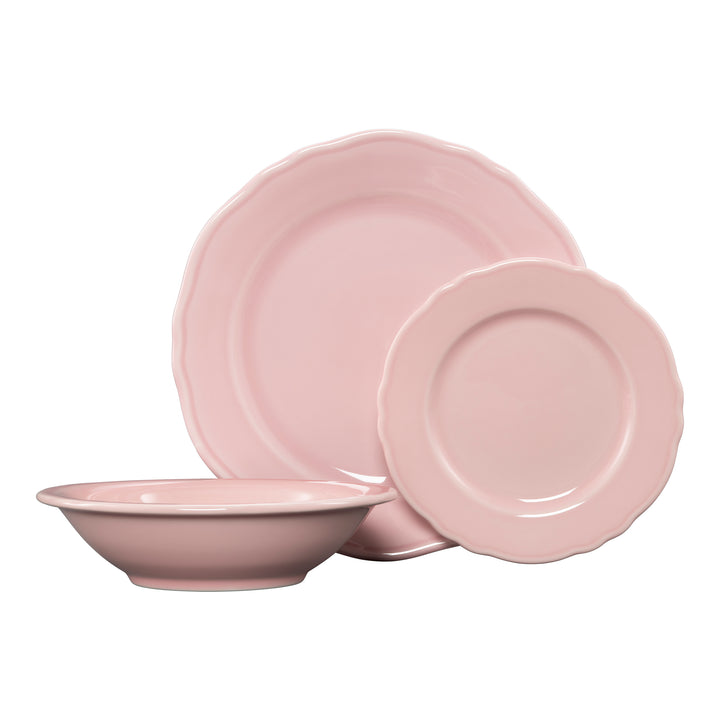 3 Pc Terrace Place Setting Pink - USA Dinnerware Direct, Place Setting proudly made in the USA by the Fiesta Tableware Company