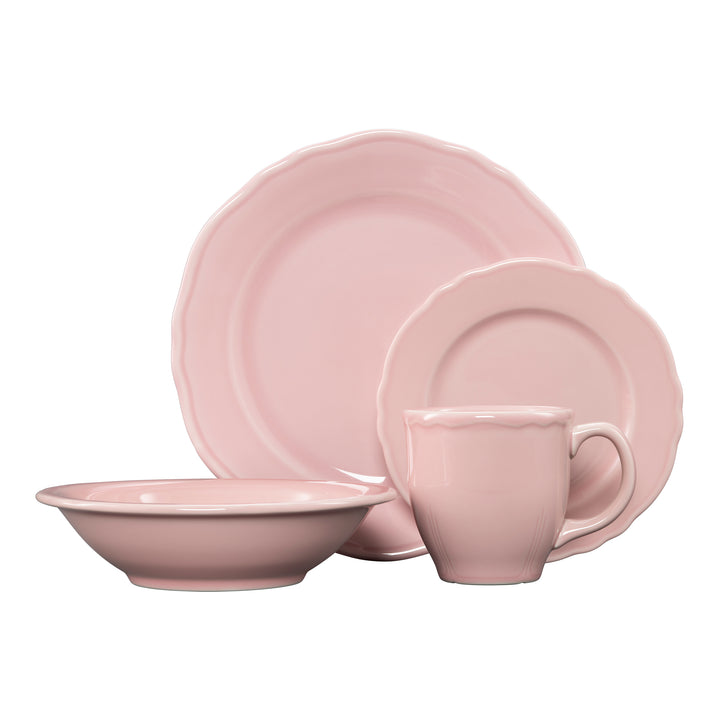 4 Pc Terrace Place Setting Pink - USA Dinnerware Direct, Place Setting proudly made in the USA by the Fiesta Tableware Company