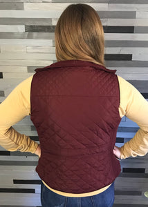 Burgundy Quilted Vest
