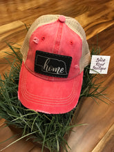 "Distressed Red ""Home"" Hat"